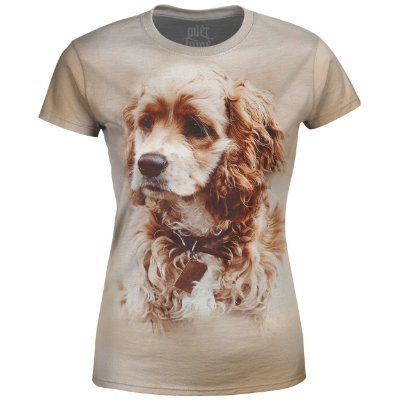 Camiseta Baby Look Feminina Cocker Spaniel md01