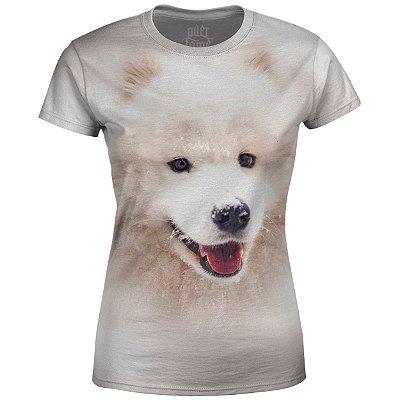 Camiseta Baby Look Feminina Husky Siberiano md04