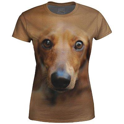 Camiseta Baby Look Feminina Basset md01