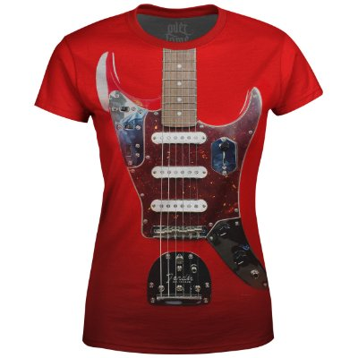 Camiseta Baby Look Feminina Guitarra Fender md01