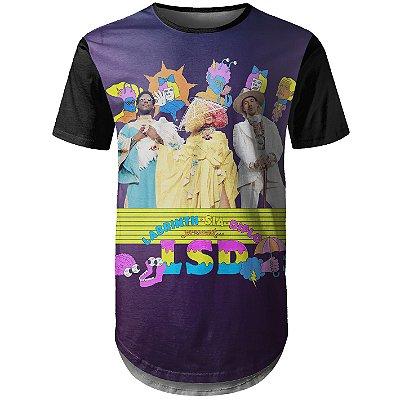 Camiseta Masculina Longline Guitarra Sia LSD Md01