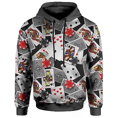 Moletom Com Capuz Unissex Poker Cartas