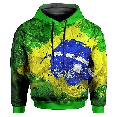 Moletom Infantil Com Capuz Unissex Brasil md01