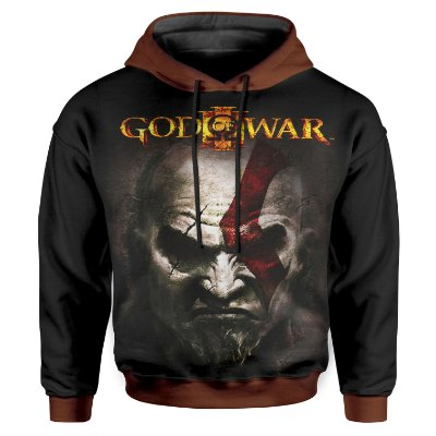 Moletom Infantil Com Capuz Unissex God of War Md03