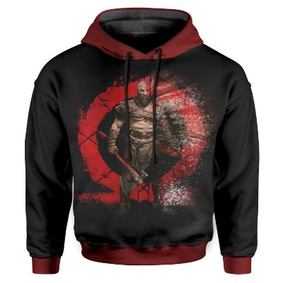 Moletom Infantil Com Capuz Unissex God of War Md02