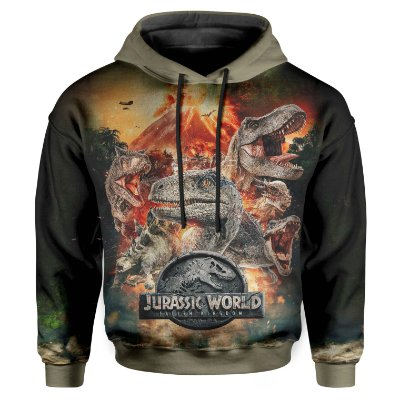 Moletom Infantil Com Capuz Jurassic World MD04