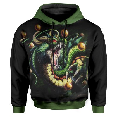 Moletom Infantil Com Capuz Dragon Ball ShenLong MD13