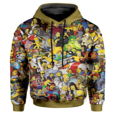 Moletom Infantil Com Capuz Simpsons Md02