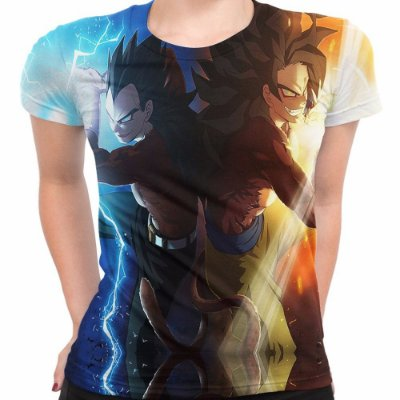 Camiseta Baby Look Dragon Ball Z Goku Vegeta Md04