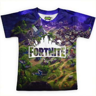 Camiseta Infantil Jogo Fortnite Camisa Md02 - OUTLET
