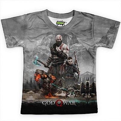 Camiseta Infantil Jogo God of War Md01 - OUTLET