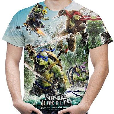 Camiseta Masculina Tartarugas Ninja Estampa Total Md01 - OUTLET