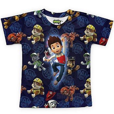 Camiseta Infantil Patrulha Canina Estampa Total MD02 - OUTLET