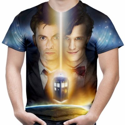 Camiseta Masculina Série Dr Who Tennant Estampa Total Md05