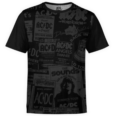 Camiseta masculina AC/DC Estampa Digital AC DC md01 - OUTLET