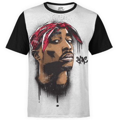 Camiseta masculina 2PAC Estampa Digital Tupac Shakur md04 - OUTLET