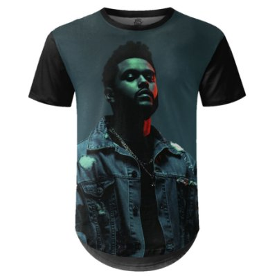 Camiseta Masculina Longline The Weeknd Estampa digital md03 - OUTLET