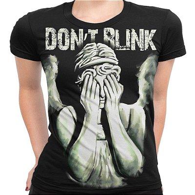 Baby look Feminina  Don't Blink Doctor Who Estampa Total Md01 - OUTLET