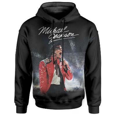 Moletom Com Capuz Unissex Michael Jackson md01