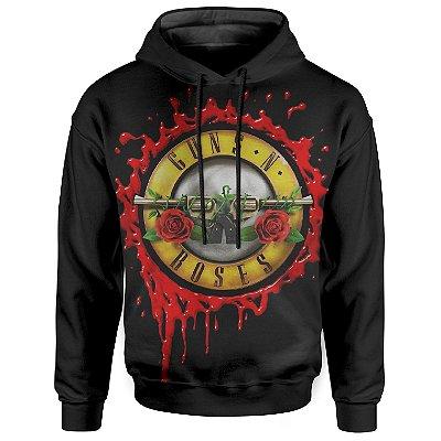 Moletom Com Capuz Unissex Guns N' Roses Guns N' Roses md07