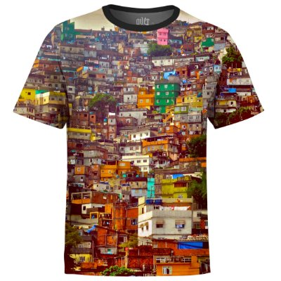 Camiseta Masculina Favela Estampa Digital md01 - OUTLET