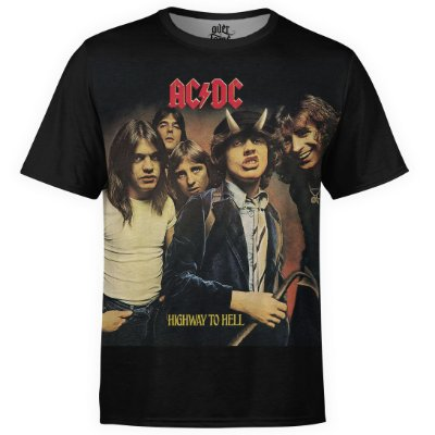 Camiseta masculina AC/DC Estampa Digital AC DC md05 - OUTLET