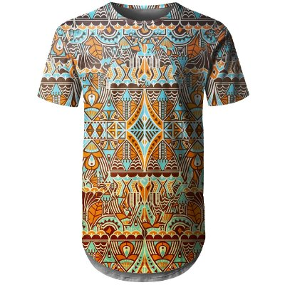 Camiseta Masculina Longline Étnica Tribal Md04 - OUTLET