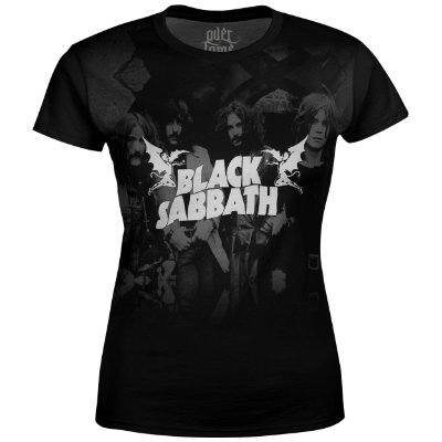 Camiseta Baby Look Feminina Black Sabbath md03 - OUTLET