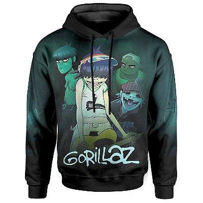 Moletom Com Capuz Unissex Gorillaz md01
