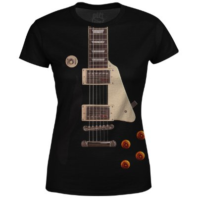 Camiseta Baby Look Feminina Guitarra Les Paul md01 - OUTLET