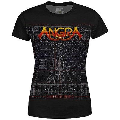 Camiseta Baby Look Feminina Angra Estampa Digital md01 - OUTLET