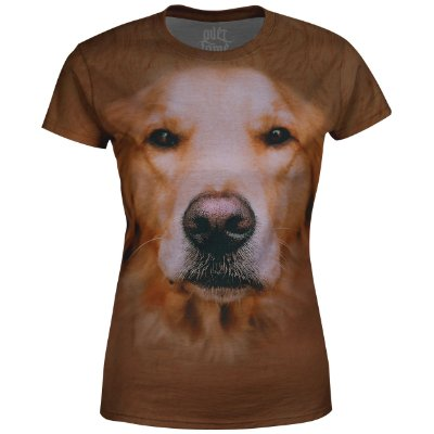 Camiseta Baby Look Feminina Golden Retriver md04 - OUTLET