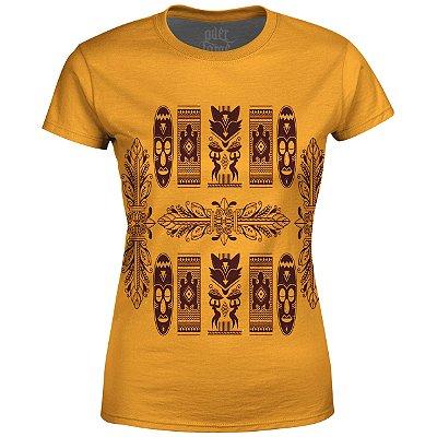 Camiseta Baby Look Feminina Étnica Tribal Africana Md08 - OUTLET