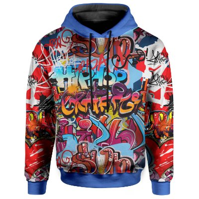Moletom Com Capuz Unissex  Grafite Hip Hop Grafiti - OUTLET