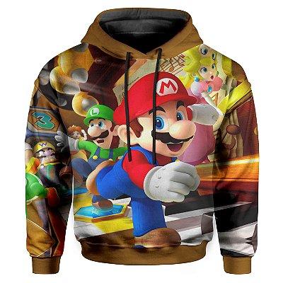 Moletom Infantil Com Capuz Unissex Mario Bross md01 - OUTLET