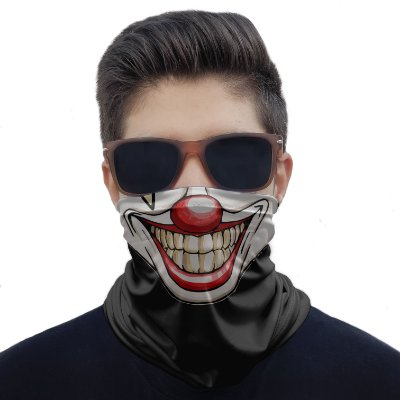 Máscara Bandana Palhaço Proteção Ciclismo Pesca Paintball