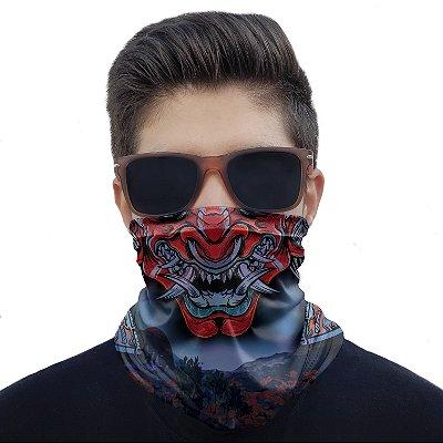 Máscara Bandana Samurai Bushido Proteção Ciclismo Pesca Moto