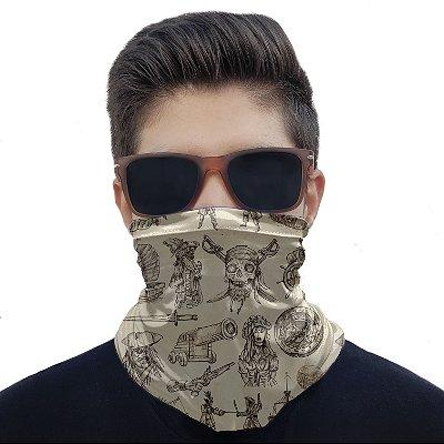 Máscara Bandana Piratas Proteção Ciclismo Pesca Moto