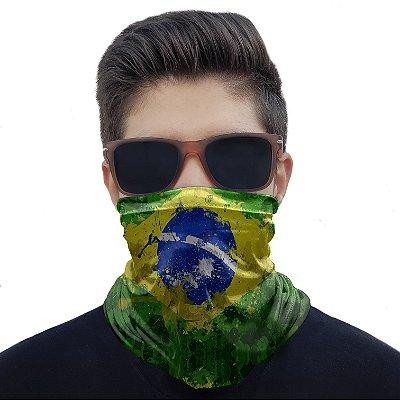 Máscara Bandana Brasil Proteção Ciclismo Pesca Moto