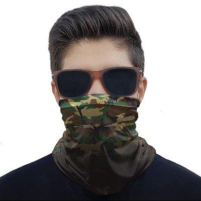 Máscara Bandana Camuflada Degradê Proteção Ciclismo Moto