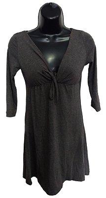Vestido Cinza Escuro Básico (Peça única Tam. P)