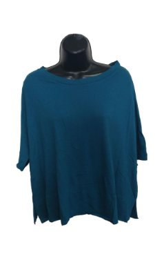 Blusa Verde Básica de Manguinha (Peçaúnica Tam. M)