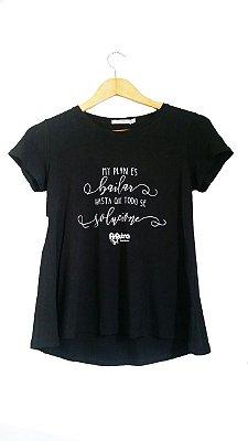 Camiseta Mi Plan Preta
