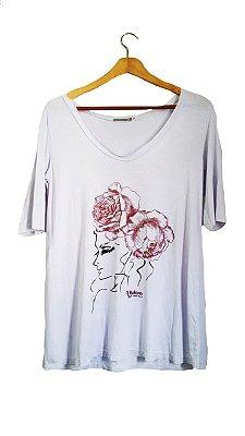 Camiseta La Tarara Manga 3/4 Branca