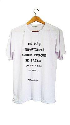 Camiseta Porque Se Baila Branca Masculina