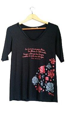 Camiseta Zorongo Manga 3/4 Preta