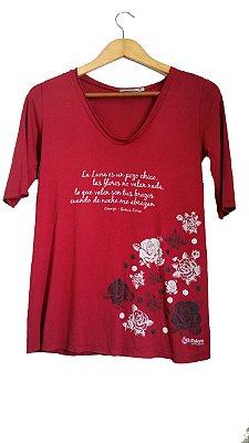 Camiseta Zorongo Manga 3/4 Vermelha