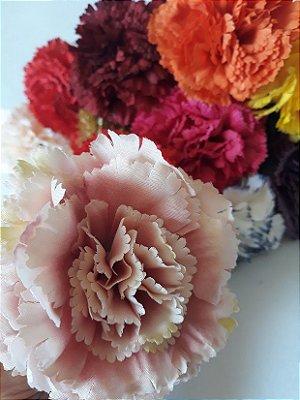 Cravo flamenco - tecido 7,5cm