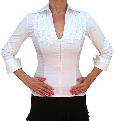 Camisa Tricoline Branca