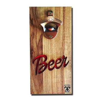 Abridor Magnético de garrafas para Geladeira - Layout Beer